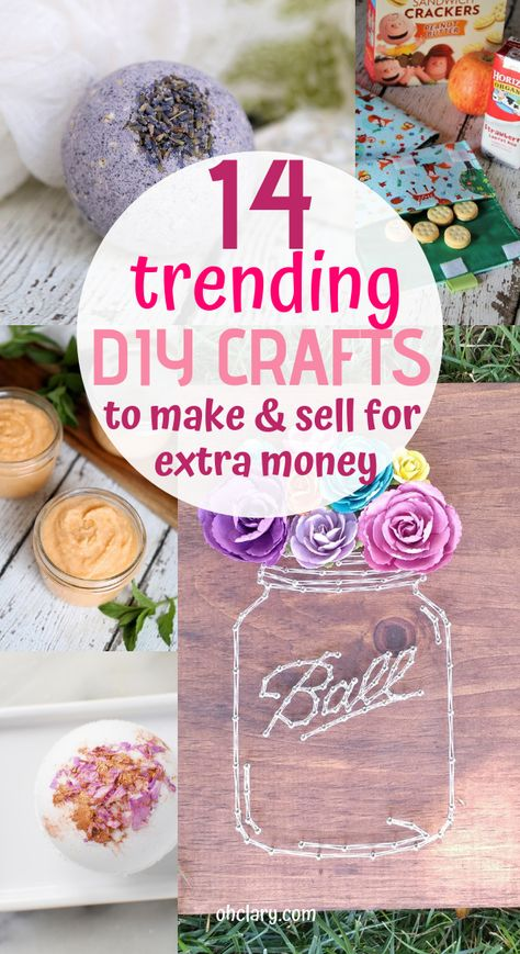 14+ Easy DIY Crafts To Sell That Are Cheap To Make & Creative. These awesome project ideas can be sold on Etsy and at craft fairs and craft markets. Try these unique crafts that make money today and make extra money from home!