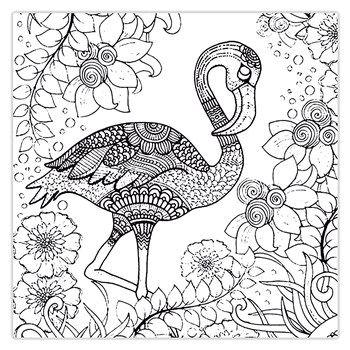 ترب لیست قیمت تابلو شاسی رنگ آمیزی زیزیپ مدل 941p20 سایز 20x20 سانتی متر Bird Coloring Pages Flamingo Coloring Page Animal Coloring Pages