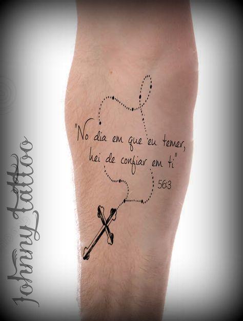 Tattoo Frases Biblicas Tatuagem Costela Masculina