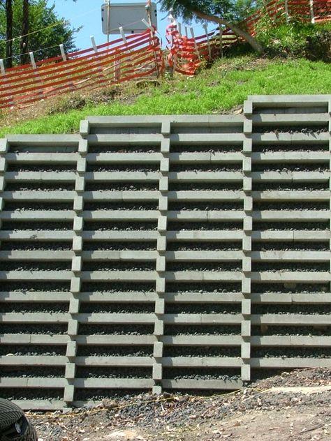 Retaining Solutions Precast Concrete Crib Retaining Walls With Images Concrete Retaining Walls Precast Concrete Retaining Wall