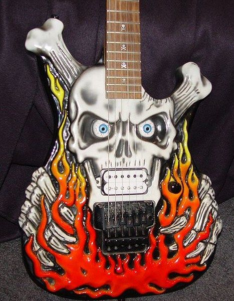 Череп пробит гитарой панк фото