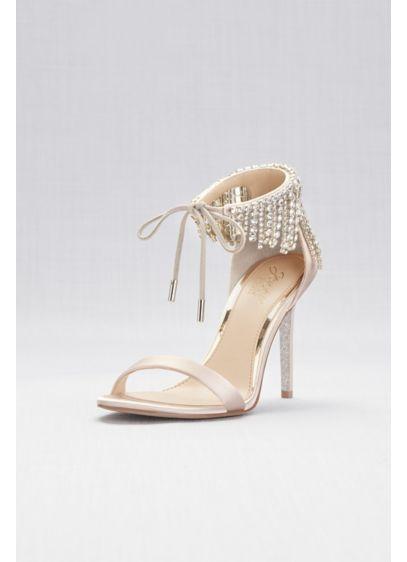 Crystal Fringe Strap High Heel Sandals David S Bridal Bridesmaids Heels Bridal Shoes Wedding Shoes