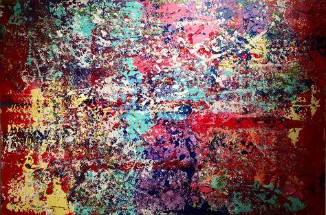 stora färgglada tavlor