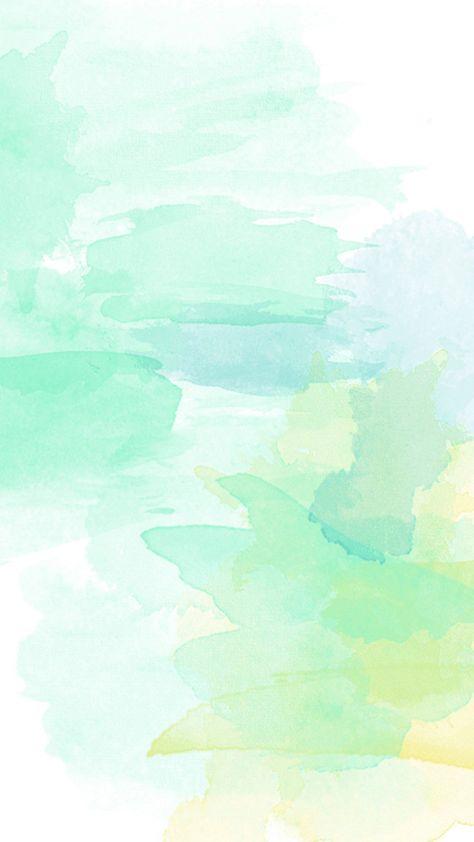 Mille Ku Aquarelle De Fond Blanc Jaune Vert H5 Abstraktnye Fony