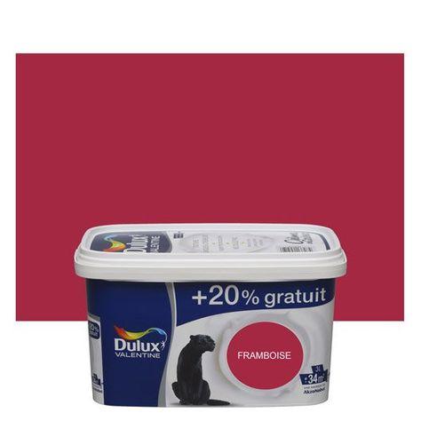 Peinture Rouge Framboise Satin Dulux Valentine Creme De Couleur 3