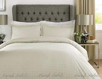 Luxury 400 Tc 100 Cotton Satin Stripe Check Duvet Cover Bedding Set Pillowcases Green Duvet Covers Duvet Cover Sets Duvet Sets