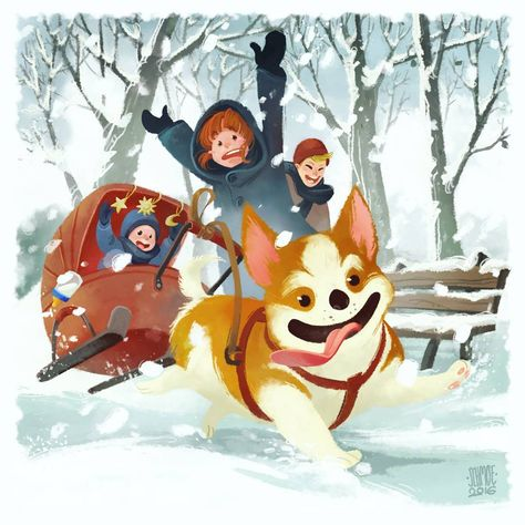 100 Best Christmas Illustrations Snowtime Images In 2020 Christmas Illustration Illustration Christmas Art