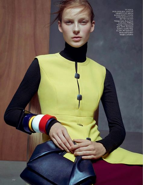 fragmentos de moda: INVERNO MONOCROMÁTICO NO EDITORIAL VOGUE UK JANEIR...