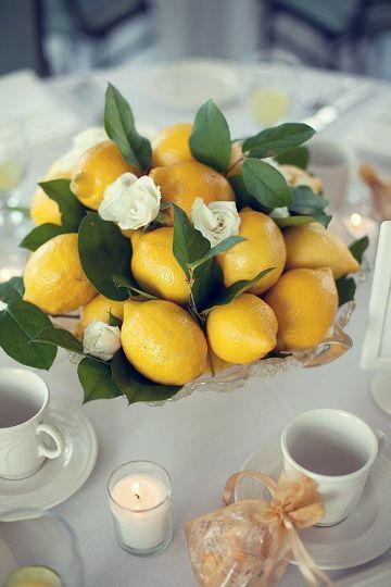 24 Decoracion con limones en agua