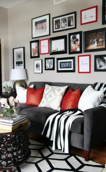 75 Delightful Black White Living Room Photos Shutterfly Red Living Room Decor Living Room Red Black Living Room Decor