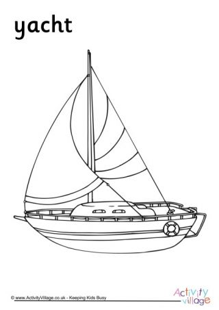 Yacht Colouring Page Coloring Pages Colouring Pages Kids Travel Activities