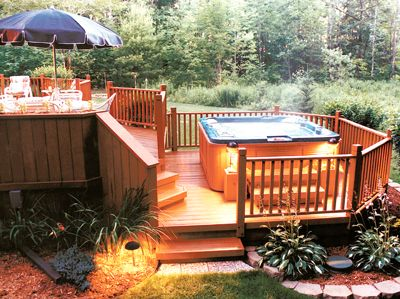 The Complete Guide About Multi Level Decks With 27 Design Ideas | Deck  Design, Deck Plans And Hot Tubs