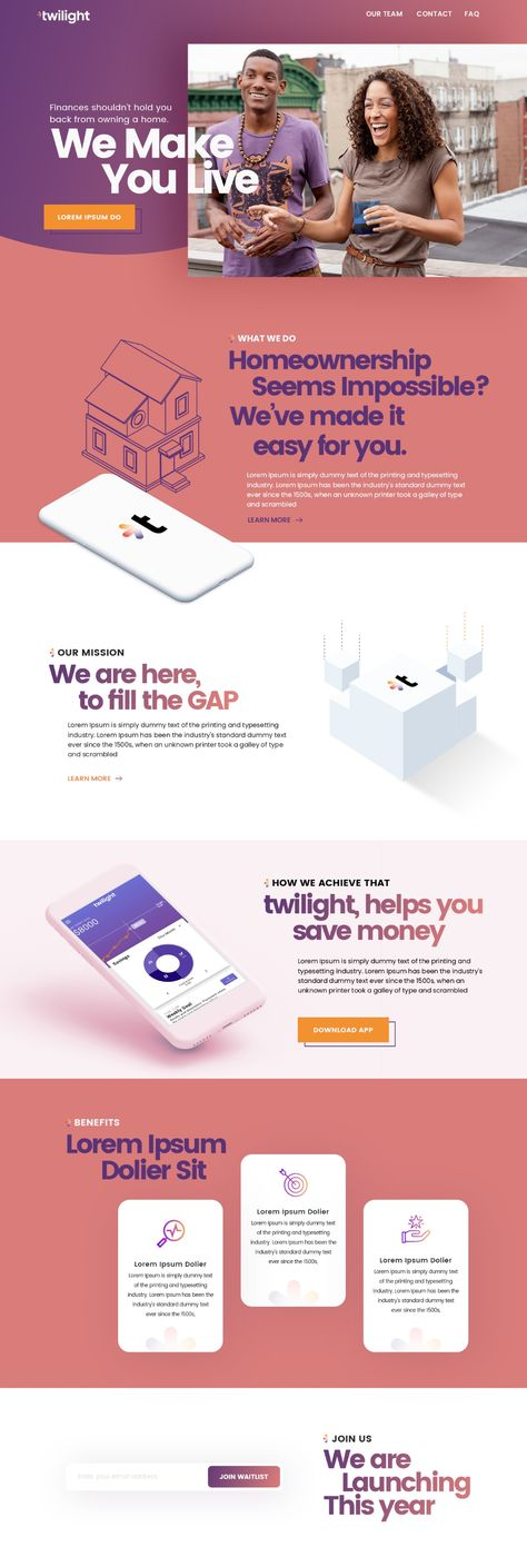 We need a vibrant, young, and modern landing page for millennials   Landing page design contest