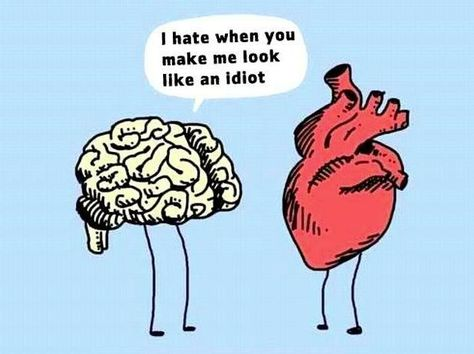 Brain vs Heart - it's an ongoing thing  #introvert