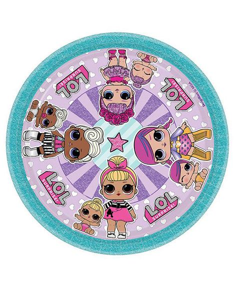 Lol Surprise Dessert Plates By Amscan 8 Ct Girls Birthday Party