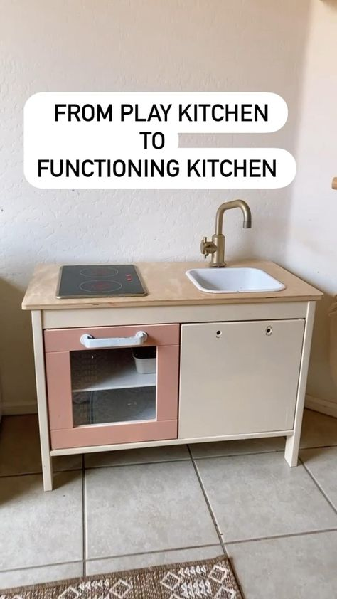 IKEA play kitchen into a functional toddler kitchen