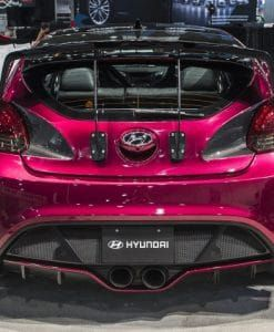 Hyundai Veloster Wide Body Kit : hyundai, veloster, 2013-2017, Veloster, Turbo, Vented, Diffuser, SoCal, Garage, Works, Turbo,, Hyundai, Veloster,
