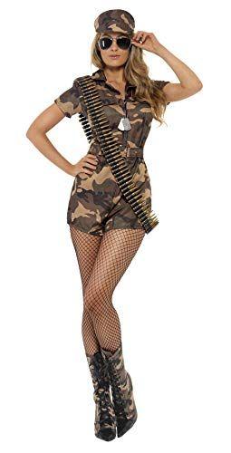 Femmes Halloween Fancy Dress Costume Militaire Armée Camo Girl Costume Taille 8 10
