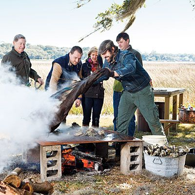 Learn how to host your own oyster roast with these recipes and tips on cooking and shucking oysters.