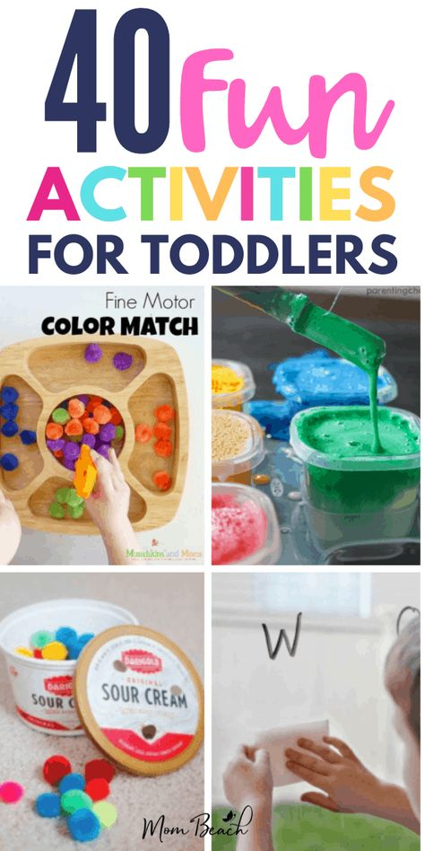 Your child won't believe how fun these 40 bargain toddler activities are. You will keep your sanity while your child is occupied indoors. These activities are perfect for 18 months, 2 year old, under 2 and 3. Girls and boys alike will enjoy these preschool activities that are educational. You can DIY to save money on crafts too. #toddleractivities #toddler18monthsactivities #toddler2yearoldactivities #educationaltoddleractivities #under2toddleractivities #preschooltoddleractivities