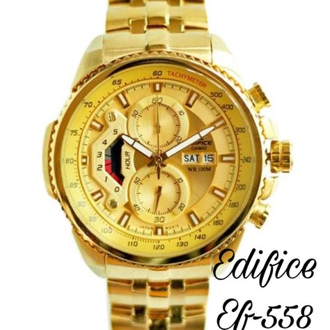 7743515f568 Edifice   Casio   EFR 558   For men   7A   Original model   Feature  -Day  indicator -working Chronograph -12 hrs dial -japan movement -stainless  chain ...