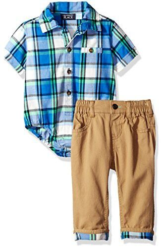 The Childrens Place Baby Boys Suspender Set