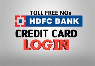 Hdfc Credit Card Login Credit Card Bank Credit Cards Cards