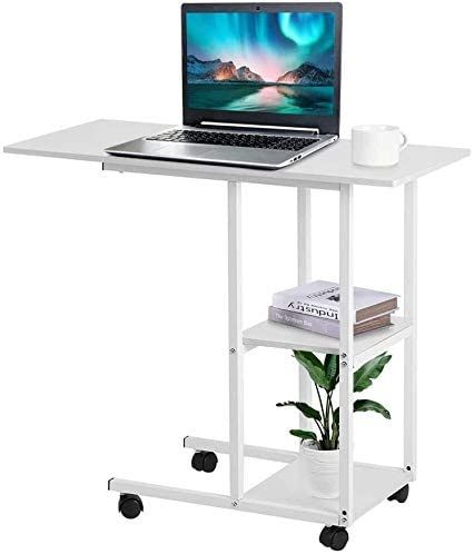 Over Bed Table Mobile Computer Desk With Wheels Portable Mobile Over Bed Table Rolling Wheel Laptop Computer Des Mobile Computer Desk Computer Desk Mobile Desk