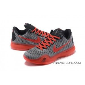 newest 524f0 46352 Super Deals Nike Kobe 10 Grey Red Black New