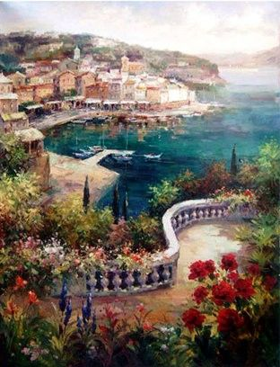 Marina View I by Peter Bell Print