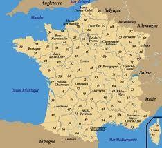 Dipartimenti Francia Cartina.Mappa Dipartimenti Francia Francia Francia E Mappe