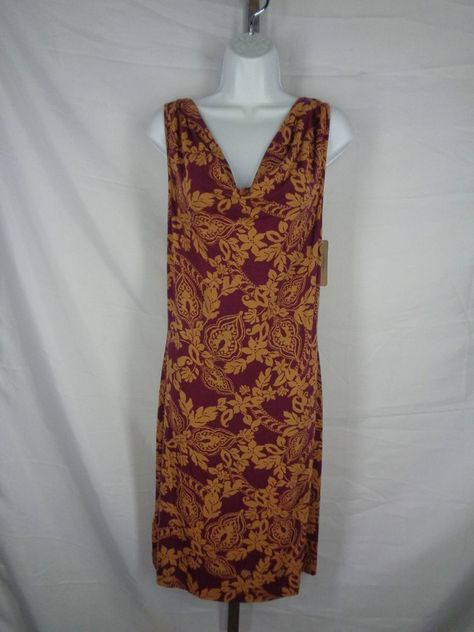 Tommy Bahama Trellis Paisley Floral Cowl Neck Dress Size Small s New | eBay