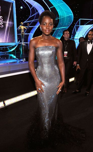 Actor Lupita Nyong'o attends the 24th Annual Screen Actors Guild Awards.
