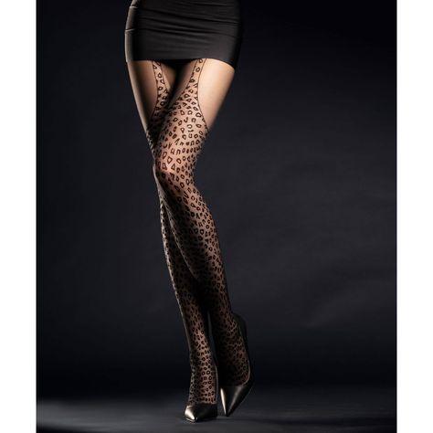 Collant Black Leopard-Noir-Gothique