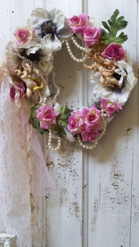 Shabby chic wreath by Anita Spero