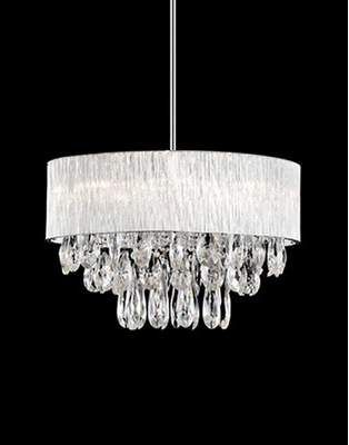 Warehouse Of Tiffany Hera 4 Light Chrome Chandelier With Fabric
