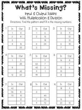 Patterns Packet 3 Oa D 9 This Packet Focuses On Understanding Patterns With Multiplication Divisio Pattern Worksheet Math Patterns Preschool Pattern Worksheets