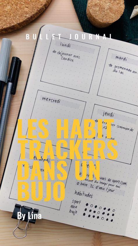 Comment utiliser des habit trackers dans un Bullet journal