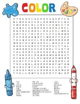 Art Vocabulary Word Search Answers