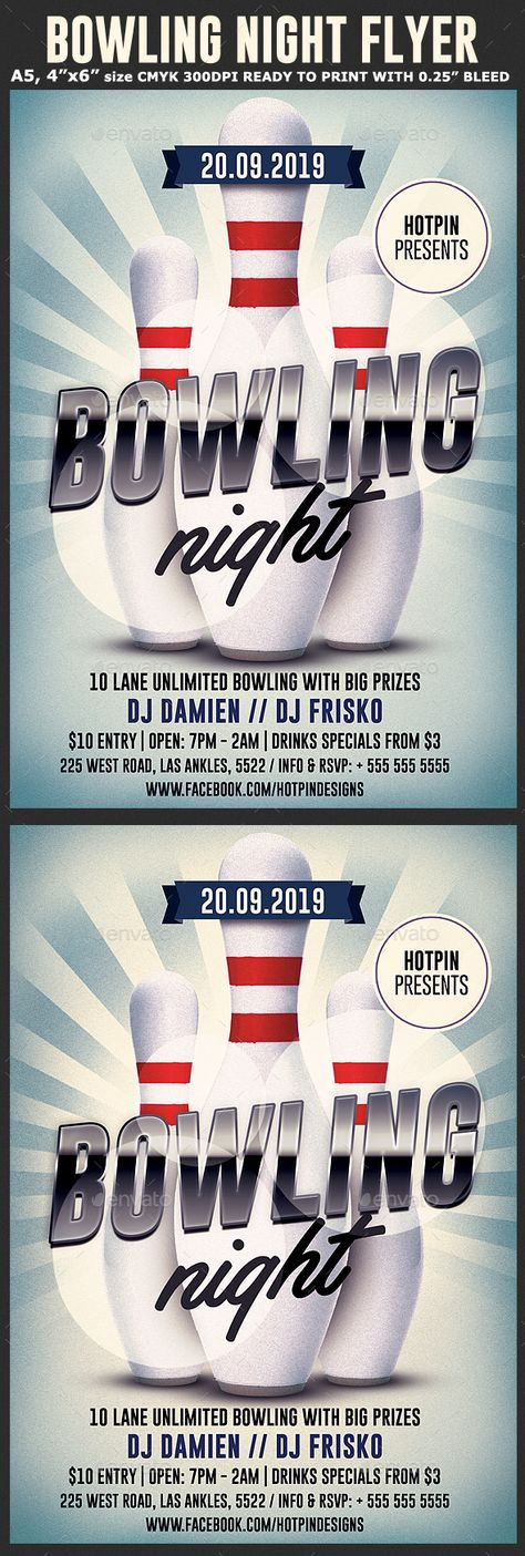 Bowling Night Flyer Template Flyer template, Bowling and Promotion - bowling flyer template free