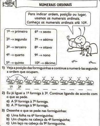 Letramento Divertido 6 E 7 Anos V 4 Matematica Numerais Ordinais