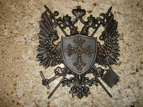 Eagle NEW Coat of Arms Shield Medieval Wall Decor with Fleur de Lis Knight