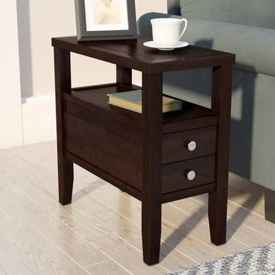 Hillyard End Table With Storage End Tables With Storage End