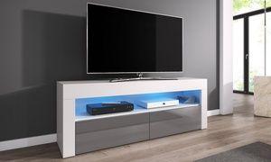 Groupon Meuble Tv Luna 140 Cm Avec Ou Sans Led Prix Groupon 109 99 Meuble Tv Meuble Espaces De Stockage
