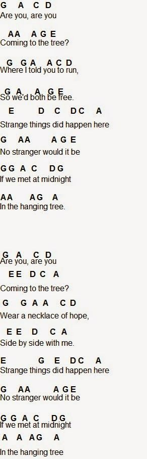 Flute Sheet Music: The Hanging Tree part 2