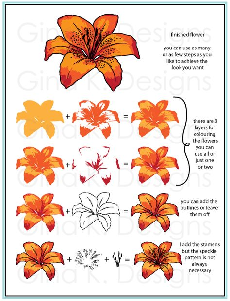 gina k designs lovely lilies Copics, Prismacolor, Pumpkin Canvas Painting, Copic Markers Tutorial, Lily Painting, Wink Of Stella, Colouring Techniques, Marker Art, Learn To Paint
