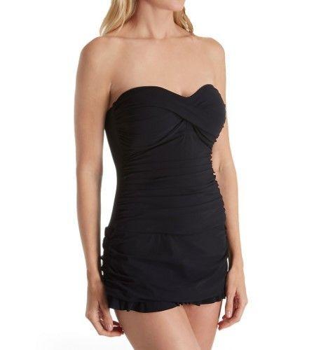 ea90b133ea6 Profile by Gottex 7362014 Tutti Frutti Tummy Control Multiway Swim Dress ( Black 14)