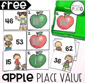 How To Produce Elementary School Much More Enjoyment Apple Place Value - Playdough To Plato Centers First Grade, First Grade Activities, 1st Grade Math, Math Centers, Math Activities, Math Games, Grade 1, Place Value Centers, Place Value Games