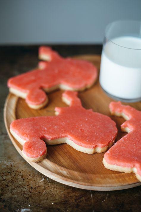 sugar cookies with marzipan.