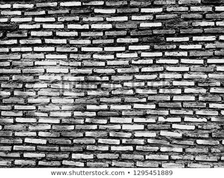 Black And White Brick Wall Background Aged
